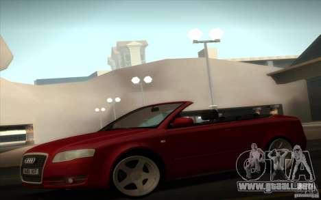 Audi A4 Cabrio para GTA San Andreas vista posterior izquierda