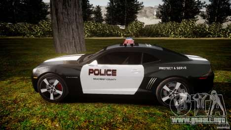 Chevrolet Camaro Police (Beta) para GTA 4 left