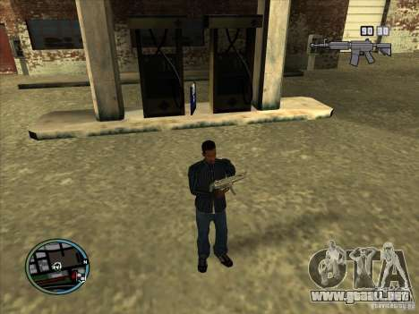 SA IV WEAPON SCROLL 2.0 para GTA San Andreas quinta pantalla