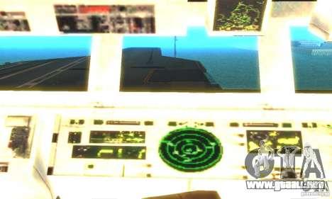 CVN-68 Nimitz para GTA San Andreas tercera pantalla