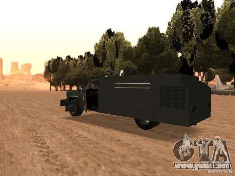 GMC SIERRA 3500 para GTA San Andreas vista posterior izquierda