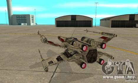 X-WING de Star Wars v1 para visión interna GTA San Andreas