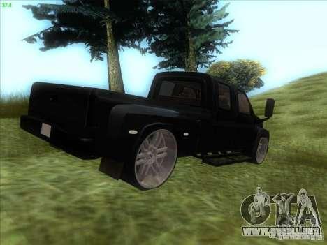GMC C4500 Pickup DUB Style para GTA San Andreas vista posterior izquierda