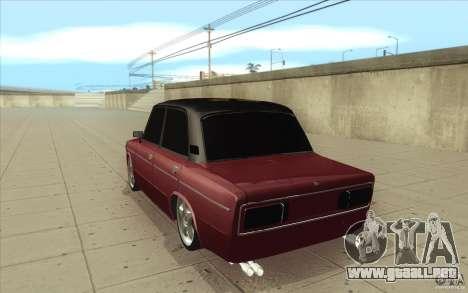 Lada 2106 Vaz para GTA San Andreas vista posterior izquierda
