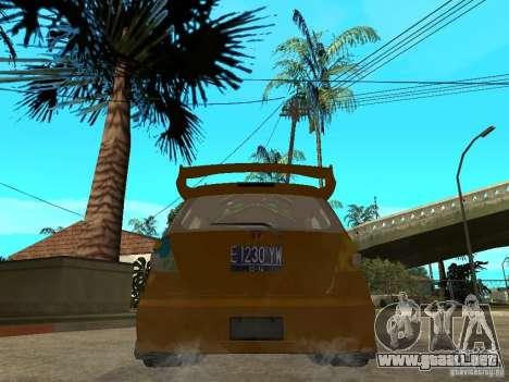 Honda Jazz Sport para GTA San Andreas vista posterior izquierda