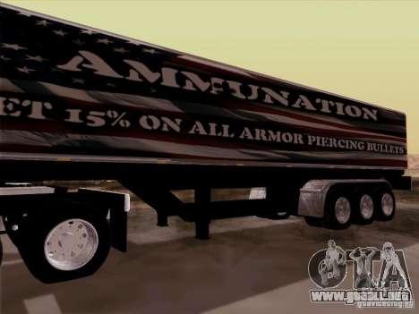 Trailer, Peterbilt 377 para GTA San Andreas vista hacia atrás