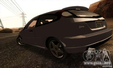 Ford Focus SVT TUNEABLE para GTA San Andreas vista posterior izquierda