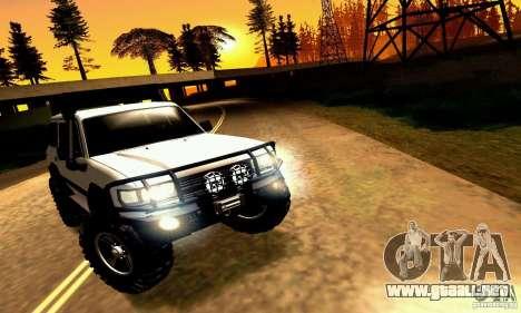Toyota Autana 4x4 para visión interna GTA San Andreas