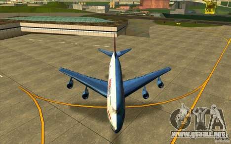 B-747 American Airlines Skin para visión interna GTA San Andreas