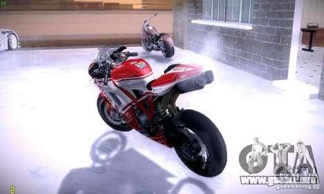 Ducati 1098 para visión interna GTA San Andreas