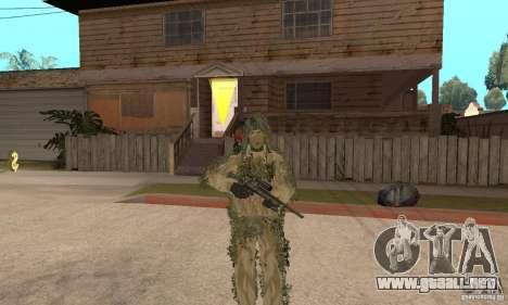 Francotirador de piel para GTA San Andreas séptima pantalla