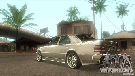 Mercedes-Benz E500 VIP Class para GTA San Andreas vista posterior izquierda
