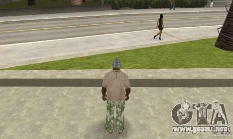 Pantalones de camuflaje para GTA San Andreas tercera pantalla