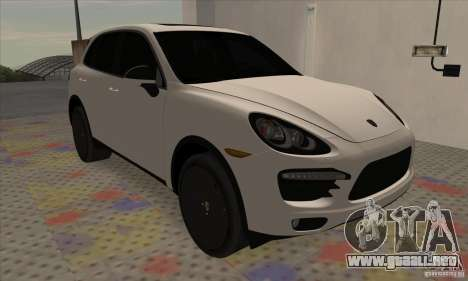 Porsche Cayenne Turbo Black Edition para GTA San Andreas left