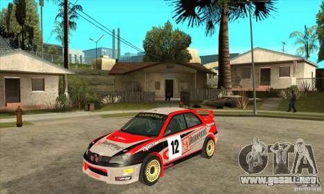 Subaru Impreza STi WRC wht2 para GTA San Andreas left