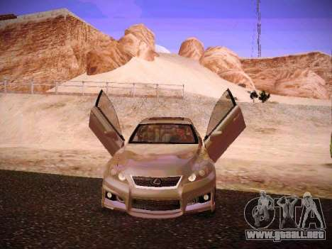 Lexus I SF para vista inferior GTA San Andreas