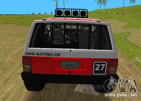 Jeep Cherokee 1984 Sandking para GTA Vice City visión correcta