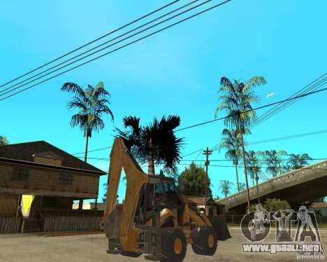 Lastik Tekerli Dozer para GTA San Andreas vista posterior izquierda