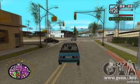 Velocímetro para GTA San Andreas segunda pantalla