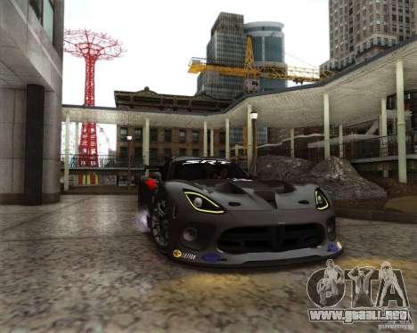 SRT Viper GTS-R V1.0 para visión interna GTA San Andreas