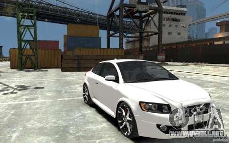 Volvo C30 T5 R-Design 2009 para GTA 4 vista hacia atrás