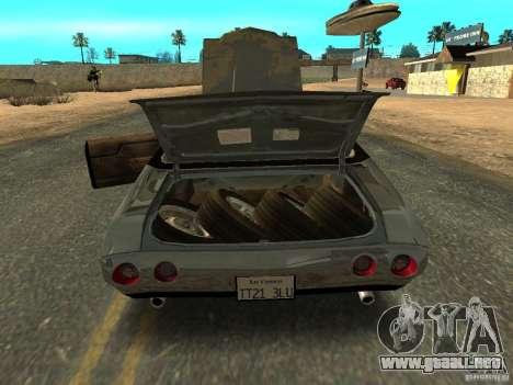Chevrolet Chevelle Rustelle para GTA San Andreas vista hacia atrás
