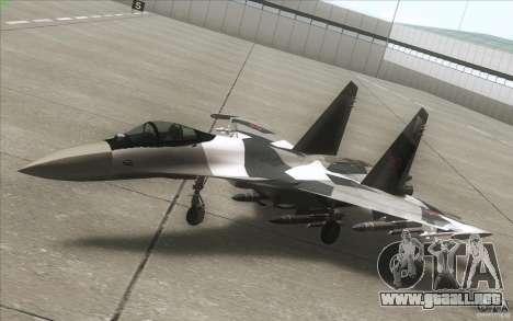 Su-35 BM v2.0 para vista lateral GTA San Andreas