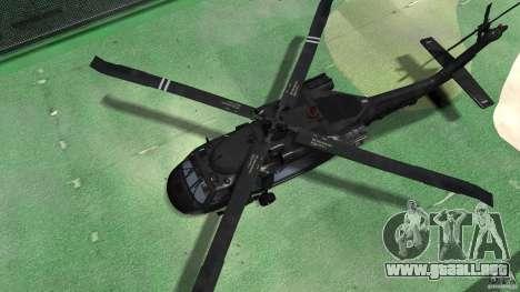 Sikorsky UH-60 Black Hawk para GTA 4 vista hacia atrás