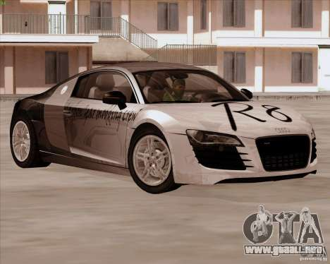 Audi R8 Production para visión interna GTA San Andreas