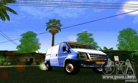 Ford Transit SWB 2011 para GTA San Andreas vista hacia atrás