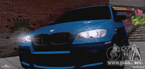 BMW X5M 2013 v1.0 para visión interna GTA San Andreas