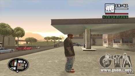 Sam B from Dead Island para GTA San Andreas tercera pantalla