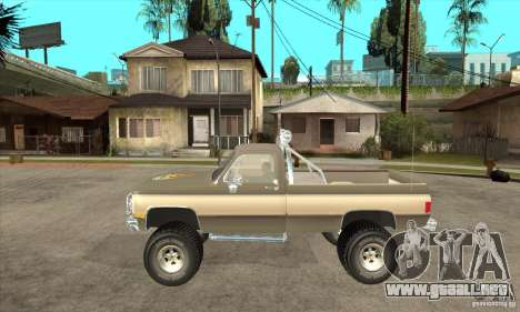 GMC Sierra Grande 1985 para GTA San Andreas left