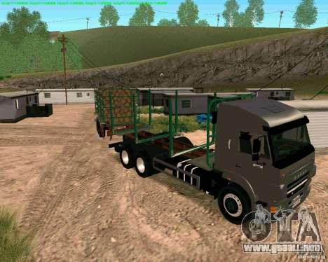Trailer de Kamaz 65117 para visión interna GTA San Andreas