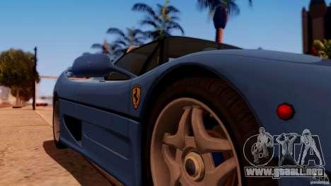 Ferrari F50 Coupe v1.0.2 para la visión correcta GTA San Andreas