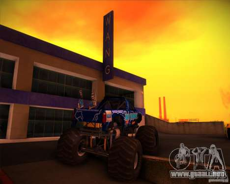 Monster Truck Blue Thunder para vista lateral GTA San Andreas