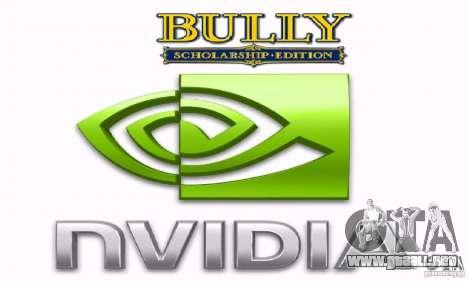 Arranque prediseñadas Bully Scholarship Edition para GTA San Andreas quinta pantalla