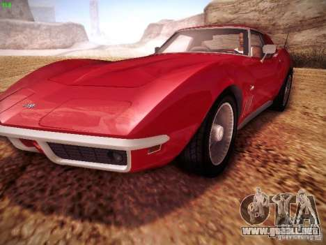 Chevrolet Corvette Stingray 1968 para la visión correcta GTA San Andreas