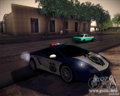 Lamborghini Gallardo LP560-4 Undercover Police para la visión correcta GTA San Andreas