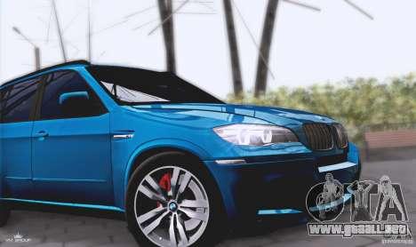 BMW X5M 2013 v1.0 para GTA San Andreas vista hacia atrás