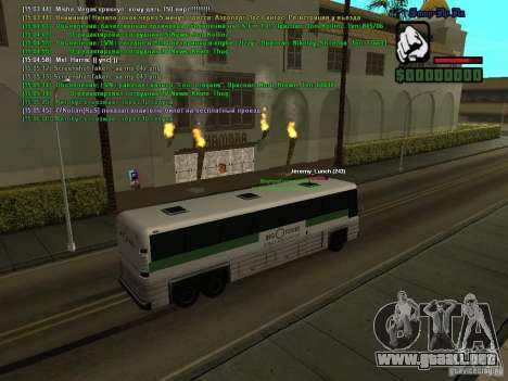 SA:MP 0.3d para GTA San Andreas octavo de pantalla