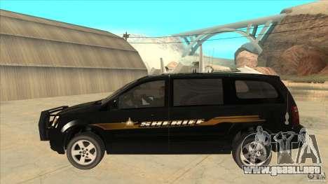 Dodge Caravan Sheriff 2008 para GTA San Andreas left