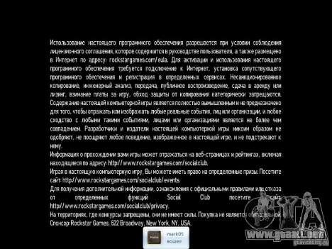 Crack para GTA 4 tercera pantalla