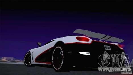 Koenigsegg Agera R 2012 para visión interna GTA San Andreas