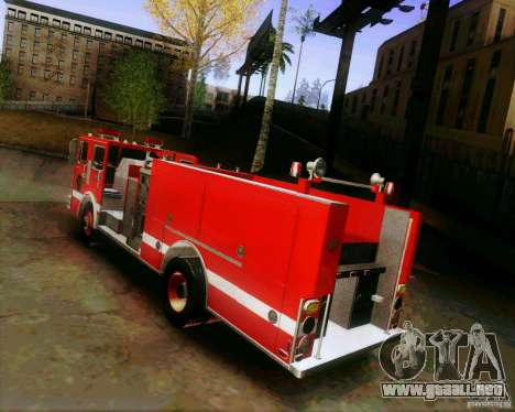 Pumper Firetruck Los Angeles Fire Dept para GTA San Andreas left