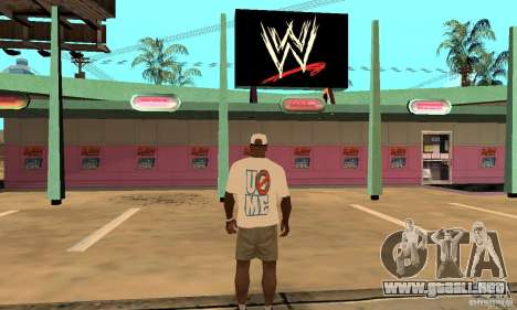 Gorra John Cena para GTA San Andreas segunda pantalla
