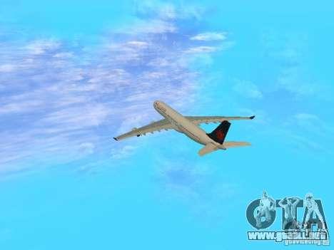 Airbus A340-300 Air Canada para visión interna GTA San Andreas