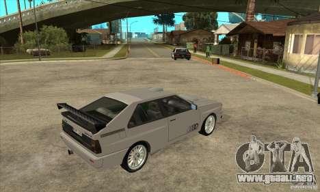 Audi Quattro para visión interna GTA San Andreas
