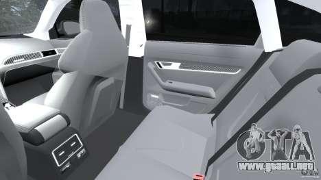 Audi RS6 2010 v1.1 para GTA 4 vista interior