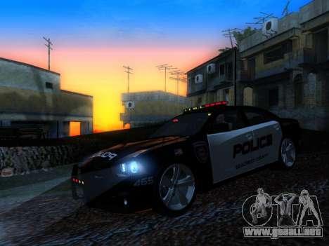 Dodge Charger SRT8 Police para visión interna GTA San Andreas